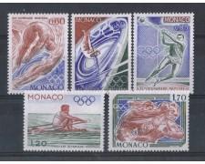 1976 - LOTTO/4375 - MONACO - OLIMPIADI MONTREAL 5v.