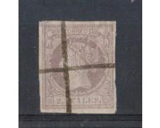 1860/61 - LOTTO/4397 - SPAGNA - 2 reales LILLA SU MALVA