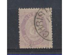 1872 - LOTTO/NORV19U - NORVEGIA - 4 Sk. VIOLETTO - USATO