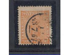 1858 - LOTTO/SVE9U - SVEZIA - 24o. ARANCIO - USATO