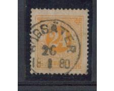 1872 - LOTTO/SVE22IU - SVEZIA - 24o. GIALLO - USATO