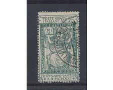 1921 - LOTTO/REG117U - REGNO - 25c. DANTE ALIGHIERI - USATO