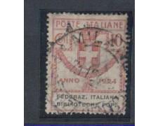 1924 - LOTTO/REGSS34U - REGNO - 10c. FEDER.BIBLIOTECHE POPOL.- U