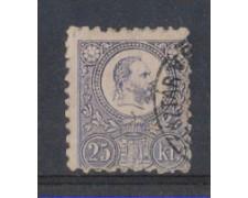 1871 - LOTTO/4816 - UNGHERIA - 25 Kr. VIOLETTO