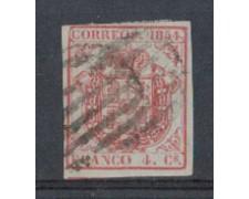 1854 - LOTTO/4829 - SPAGNA - 4c. CARMINIO