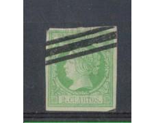 1860 - LOTTO/4917 - SPAGNA - 2 Cuartos  VERDE