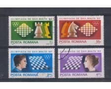 1980 - LOTTO/4973 - ROMANIA - OLIMPIADI SCACCHI 4v.