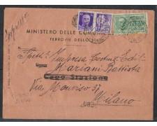 1944 - LOTTO/501 - BUSTA ESPRESSO DA FIRENZE PER MILANO
