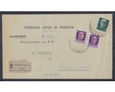 1944 - LOTTO/503 - PADOVA MANOSCRITTI RACCOMANDATI PER CASALSERUGO