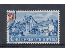 1945 - LOTTO/5107 - SVIZZERA - 30+10c. PRO PATRIA - USATO