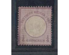 1872 - LOTTO/5113 - GERMANIA IMPERO - 1/4g. VIOLETTO