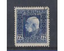1912 - LOTTO/5175 - AUSTRIA - BOSNIA ERZEGOVINA - 72h. AZZURRO