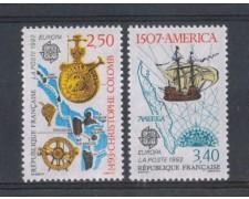 1992 - LOTTO/FRA2749CPN - FRANCIA - EUROPA SCOPERTA AMERICA 2v. - NUOVI