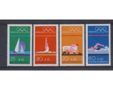 1972 - LOTTO/5310 - GERMANIA FEDERALE - OLIMPIADI  MONACO 4v.