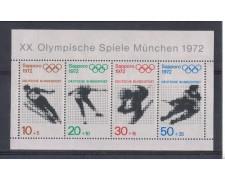1971 - LOTTO/GFBF5N  - GERMANIA - OLIMPIADI INVERNALI FOGLIETTO - NUOVO