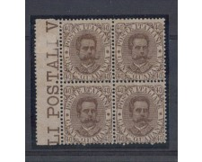 1889 - LOTTO/REG45QN - REGNO - 40c. BRUNO UMBERTO I° QUARTINA