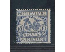 1928 - LOTTO/REGCAP2N - REGNO - 10c. RECAPITO  II° - NUOVO