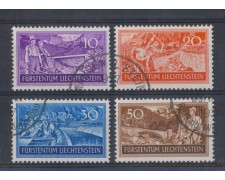1937 - LOTTO/5606 - LIECHTENSTEIN - DISOCCUPAZIONE 4v.