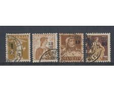 1915 - LOTTO/5636 - SVIZZERA - SOPRASTAMPATI 4v. - USATI