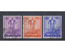 1936 - LOTTO/5637 - SVIZZERA - DIFESA NAZIONALE 3v. - USATI