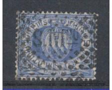 1877/90  - LOTTO/5638 - S. MARINO - 10c. OLTREMARE - USATO