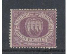 1877/90 - LOTTO/5640 - S.MARINO - 40c. VIOLETTO - T/L