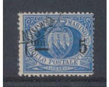 1892 - LOTTO/5642 - S. MARINO - 5c. SU 10c. AZZURRO - USATO