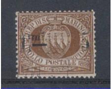 1892 - LOTTO/5643 - S.MARINO - 5c. SU 30c. BRUNO - USATO