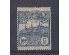 1903 - LOTTO/5645 - S. MARINO - 5 LIRE ARDESIA LING.