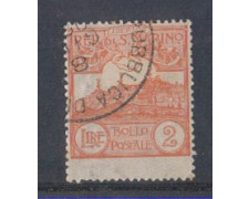 1921/23 - LOTTO/5646 - S.MARINO - 2 LIRE ARANCIO USATO