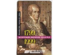 1999 -  ITALIA  - LOTTO/583 - TELECOM -  INVENZIONE DELLA PILA - NUOVA