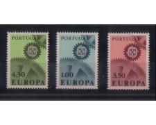 1967 - LOTTO/9818 -  PORTOGALLO - EUROPA 3v.