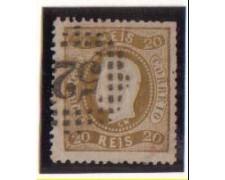 1867 - LOTTO/9625CU -  PORTOGALLO - 20r. BISTRO - USATO