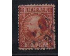 1867 - LOTTO/672 -  OLANDA - 15c. BRUNO - USATO