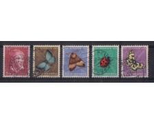 1952 - LOTTO/SVI530CPU -  SVIZZERA - PRO JUVENTUTE 5v. - USATI