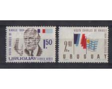 1964 - LOTTO/802 -  URUGUAY - DE GAULLE