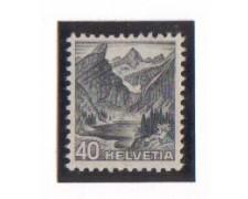 1936 - LOTTO/879  - SVIZZERA - 40c. GRIGIO VEDUTE - NUOVO