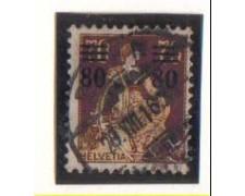 1915 - LOTTO/3075A -  SVIZZERA - 80 SU 70c. BRUNO - USATO