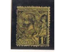 1891 - LOTTO/905 - MONACO - 1Fr. NERO SU GIALLO