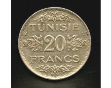 1934 - TUNISIA - LOTTO/M13111 - 20 FRANCHI - ARGENTO
