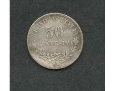 1863 - LOTTO/M16092 - REGNO - 50 CENT. V.EMANUELE II° - ARGENTO