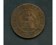 1887 - INDOCINA FRANCESE -  1 CENTESIMO BRONZO