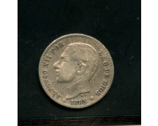 1885 - LOTTO/M16155- SPAGNA - 50 CENT. ARGENTO ALFONSO XII°