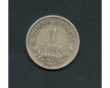 1863 - LOTTO/M18866 - REGNO - 1 LIRA ARGENTO VITT. EMANUELE II°