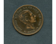 1879 - LOTTO/M18878 - SPAGNA - 5 cent. ALFONSO XII°