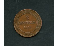 1859 - LOTTO/M18882 - REGNO - 2 cent. VITTORIO EMANUELE II°