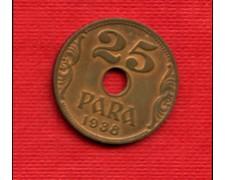 1938 - YUGOLSLAVIA - LOTTO/M21142 - 25 PARA  BRONZO