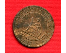 1892 - LOTTO/M21148 - INDOCINA FRANCESE - 1 cent. BRONZO