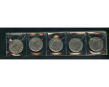 1939/1943 - LOTTO/M21185 - REGNO - 20 cent. IMPERO SERIE 5 MONETE