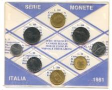 1981 - LOTTO/21280 - REPUBBLICA - SERIE ANNUALE CIRCOLANTE